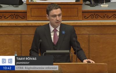 Riigikogu arutas riigivalitsemise reformi sisu ja läbiviimise üle