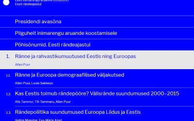"""Uus inimarengu aruanne """"Eesti rändeajastul"""" on loetav veebiaruandena aadressil inimareng.ee"""