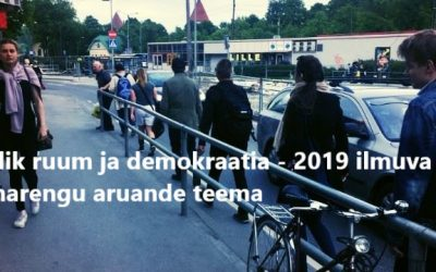 Estonian Human Development Report 2018/2019 focuses on democracy and public space