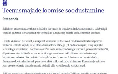 Tallinnasse kavandatakse uue eakuse rahvakogu tuules esimest seenioride teenusmaja