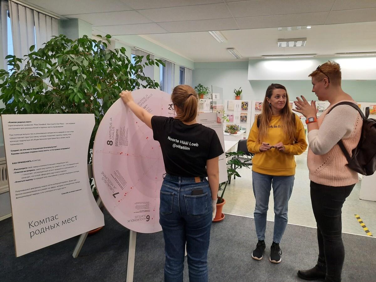 Mööda Eesti maakonnalinnu liikuv kompass-ketas kogub kohalike hinnanguid kodukoha avalikule ruumile