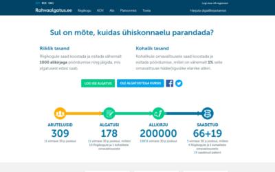 Rahvaalgatusveebis kogunes pöördumistele viie kuuga 100 000 allkirja